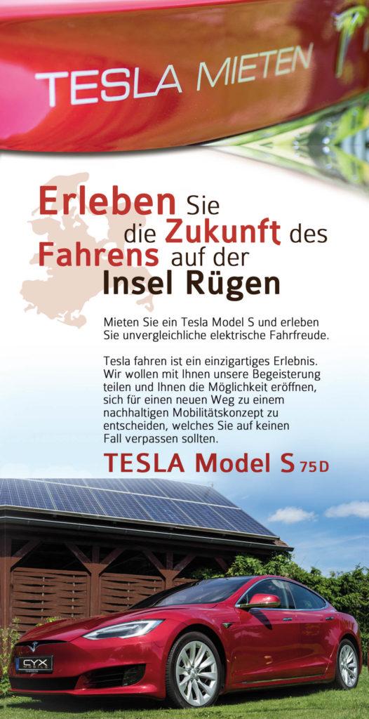 E-Auto Tesla Vermietung Rügen